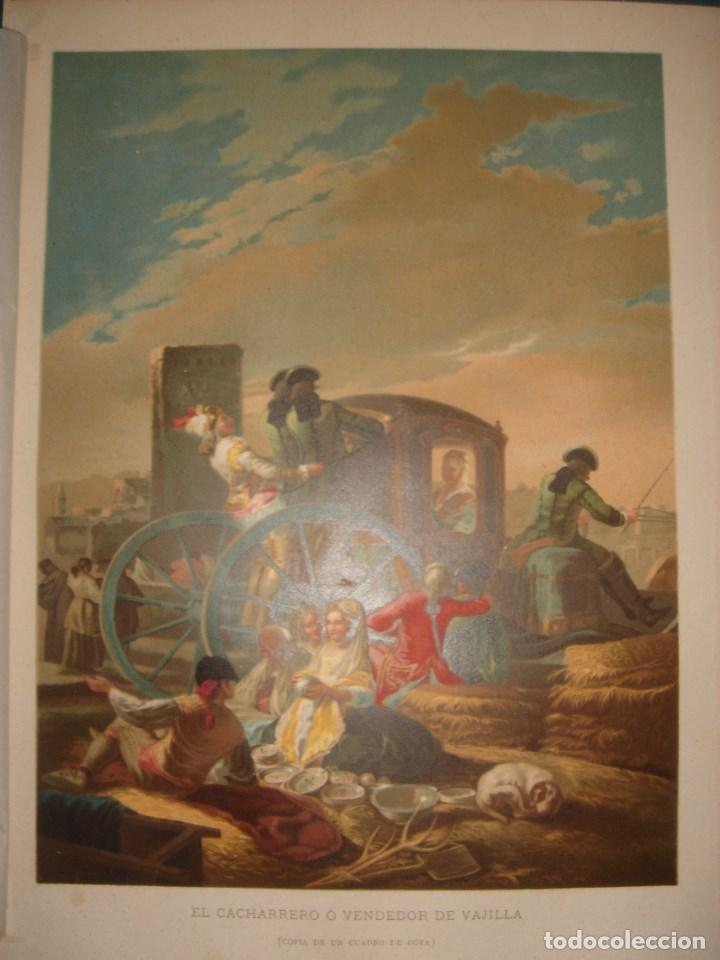Arte: GRABADO EL CACHARRERO O VENDEDOR DE VAJILLA DE GOYA, 1879, BARCELONA,PUJADAS. - Foto 3 - 116622211