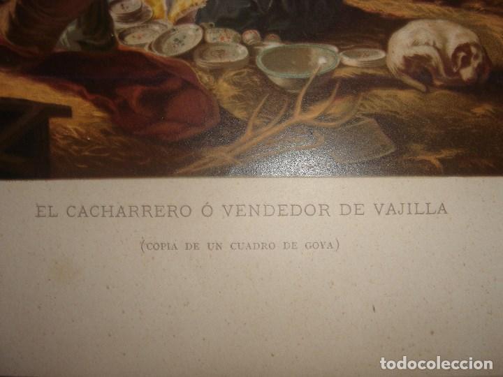 Arte: GRABADO EL CACHARRERO O VENDEDOR DE VAJILLA DE GOYA, 1879, BARCELONA,PUJADAS. - Foto 4 - 116622211
