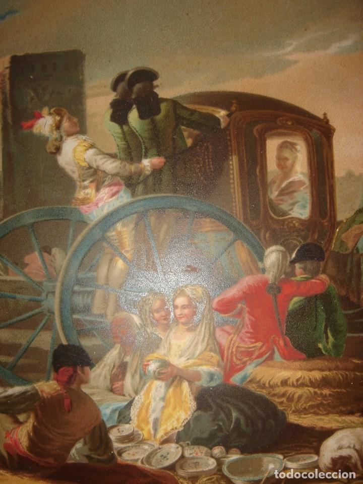 Arte: GRABADO EL CACHARRERO O VENDEDOR DE VAJILLA DE GOYA, 1879, BARCELONA,PUJADAS. - Foto 5 - 116622211