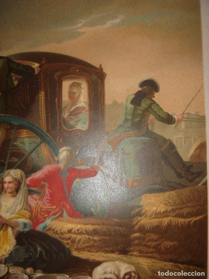 Arte: GRABADO EL CACHARRERO O VENDEDOR DE VAJILLA DE GOYA, 1879, BARCELONA,PUJADAS. - Foto 6 - 116622211