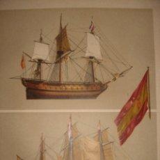 Arte: GRABADO RECUERDO DE TRAFALGAR, 1879, BARCELONA,PUJADAS.. Lote 116622579
