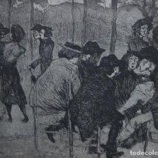 Arte: JOAQUIN SUNYER (1875 - 1956) GRABADO AL AGUAFUERTE. PLANCHA DEL 1900 - EDICION DEL 1973. Lote 116698295