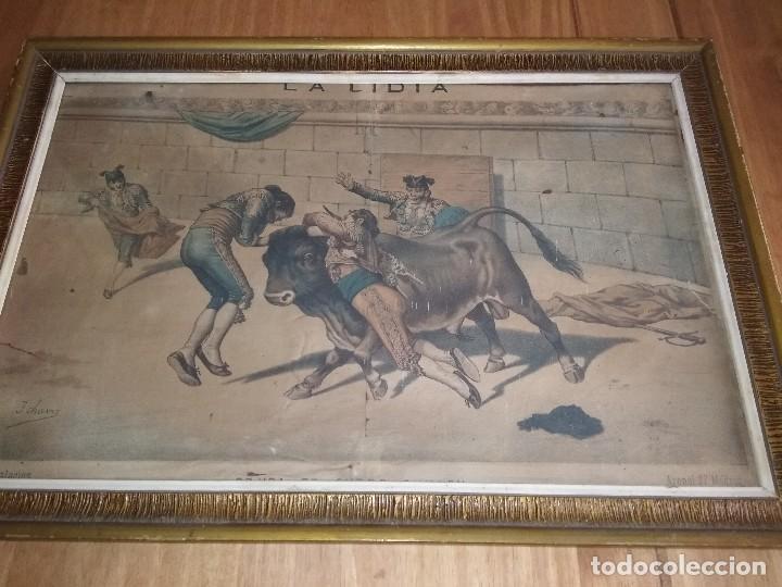 PRECIOSO GRABADO COLOREADO ANTIGUO (Arte - Grabados - Modernos siglo XIX)