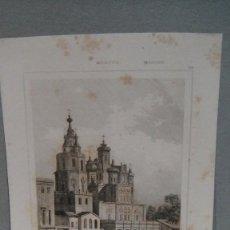 Arte: GRABADO DE MOSCU , IGLESIA DE LA ASUNCION EN POKOROVKA , CADOLLE DEL , GIBERT SC LEMAITRE DIREXIT.. Lote 117281267