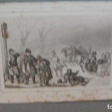 Arte: GRABADO DE RUSIA , CORREDORES DE TRINEOS , VERNIER DEL , CHAILLOT SC , LEMAITRE DIREXIT.. Lote 117281487
