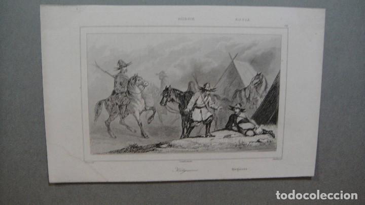 GRABADO DE RUSIA , KIRGUISES , VERNIER DEL , CHAILLOT SC , LEMAITRE DIREXIT. (Arte - Grabados - Modernos siglo XIX)