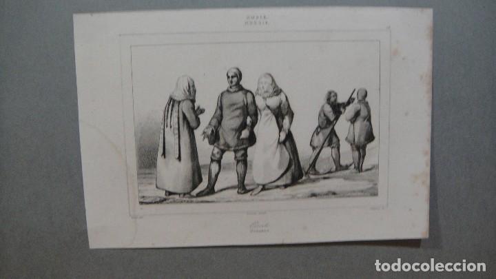 GRABADO DE RUSIA , OSTIAKOS , VERNIER DEL , LANGLOIS SC , LEMAITRE DIREXIT. (Arte - Grabados - Modernos siglo XIX)