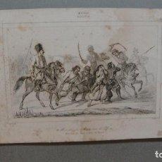 Arte: GRABADO DE RUSIA , MARCHA DE BATI SOBRE EL DON , VERNIER DEL , CHAILLOT SC , LEMAITRE DIREXIT.. Lote 117282399