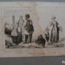 Arte: GRABADO DE RUSIA , CAMPESINOS RUSOS , VERNIER DEL , MONRIN SC , LEMAITRE DIREXIT.. Lote 117282579