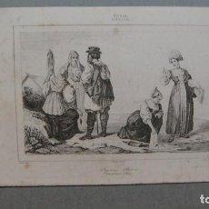 Arte: GRABADO DE RUSIA , CAMPESINOS RUSOS , VERNIER DEL , MONRIN SC , LEMAITRE DIREXIT.. Lote 117282619