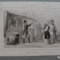 Arte: GRABADO DE RUSIA , PESCADORES DEL VOLGA , VERNIER DEL , CHAILLOT SC , LEMAITRE DIREXIT.. Lote 117283067