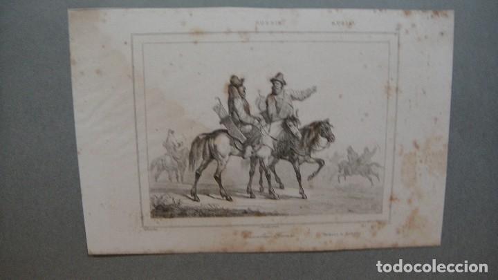 GRABADO DE RUSIA, CABALLERIA TATARA , - VERNIER DEL , MASSON SC , LEMAITRE DIREXIT. (Arte - Grabados - Modernos siglo XIX)