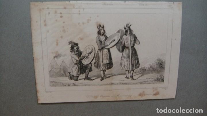GRABADO DE RUSIA, TATAROS , - VERNIER DEL , CHAILLOT SC , LEMAITRE DIREXIT. (Arte - Grabados - Modernos siglo XIX)