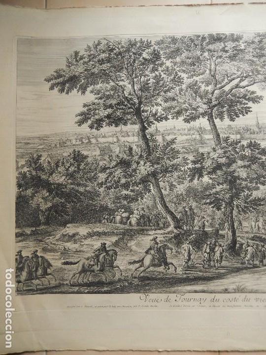 Arte: Grabado Veuë de Tournay du Costé du Vieux Chasteau - Foto 2 - 117357331