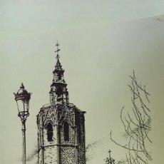 Arte: GRABADO EL MIGUELETE PAISAJE CIUDAD VALENCIA R. SAMJUAN AÑO 94. Lote 117549259