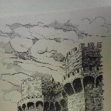 Arte: GRABADO TORRES DE SERRANO CIUDAD DE VALENCIA R. SANJUAN AÑO 94. Lote 117549667
