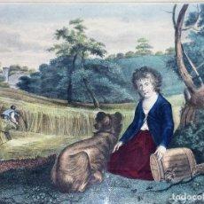 Arte: THE REAPER'S CHILD. GRABADO COLOREADO. DRAVUNBY-ZAFFONATTO. INGLATERRA. SIGLO XIX. Lote 117637919