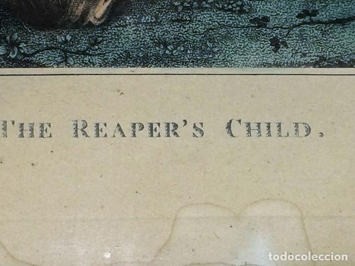 Arte: THE REAPERS CHILD. GRABADO COLOREADO. DRAVUNBY-ZAFFONATTO. INGLATERRA. SIGLO XIX - Foto 5 - 117637919