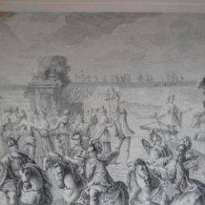 Arte: EXCELENTE GRABADO MÁSCARA REAL ELABORADO EN 1978 CON PLANCHAS DE 1764. Lote 117671051