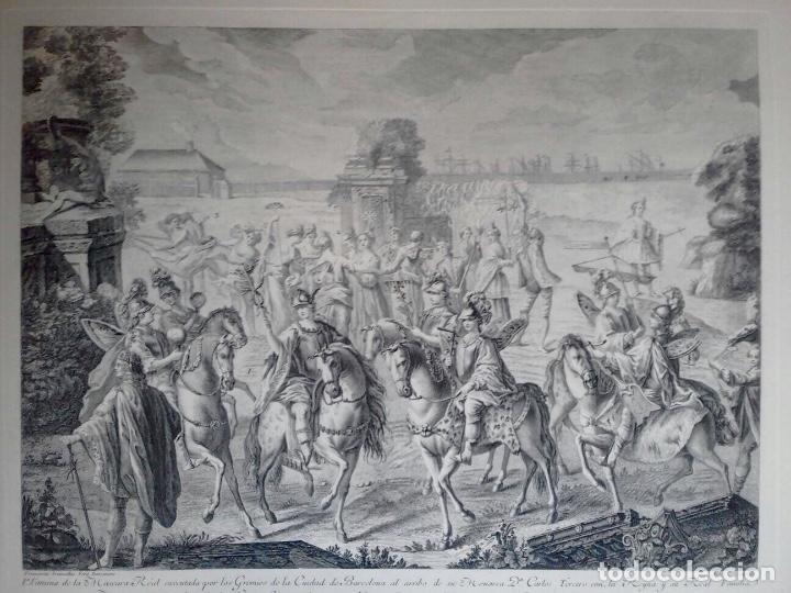 Arte: Excelente grabado MÁSCARA REAL elaborado en 1978 con planchas de 1764 - Foto 2 - 117671051