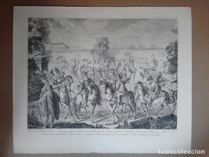 Arte: Excelente grabado MÁSCARA REAL elaborado en 1978 con planchas de 1764 - Foto 3 - 117671051