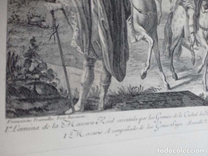 Arte: Excelente grabado MÁSCARA REAL elaborado en 1978 con planchas de 1764 - Foto 4 - 117671051