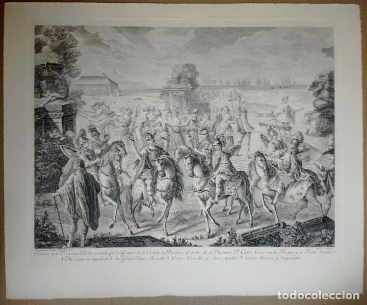 Arte: Excelente grabado MÁSCARA REAL elaborado en 1978 con planchas de 1764 - Foto 5 - 117671051