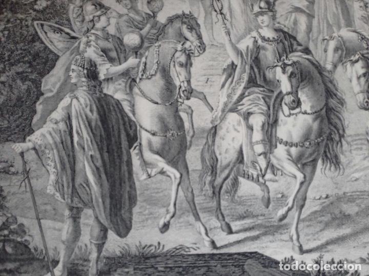 Arte: Excelente grabado MÁSCARA REAL elaborado en 1978 con planchas de 1764 - Foto 6 - 117671051