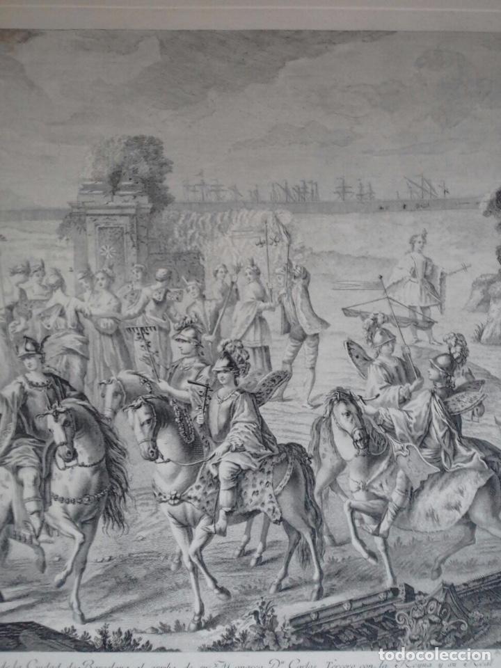Arte: Excelente grabado MÁSCARA REAL elaborado en 1978 con planchas de 1764 - Foto 8 - 117671051