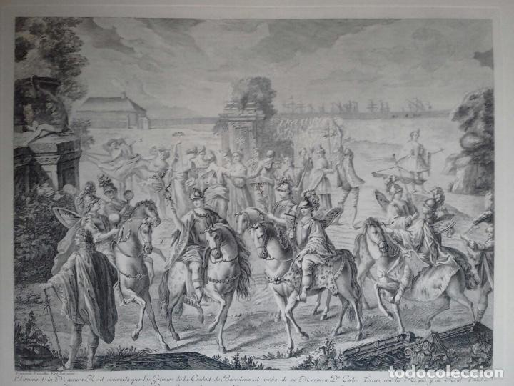 Arte: Excelente grabado MÁSCARA REAL elaborado en 1978 con planchas de 1764 - Foto 9 - 117671051
