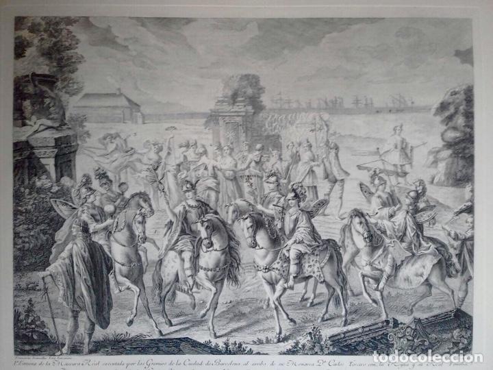 Arte: Excelente grabado MÁSCARA REAL elaborado en 1978 con planchas de 1764 - Foto 10 - 117671051