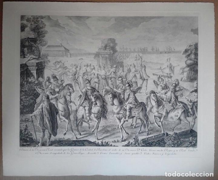 Arte: Excelente grabado MÁSCARA REAL elaborado en 1978 con planchas de 1764 - Foto 11 - 117671051