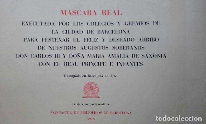 Arte: Excelente grabado MÁSCARA REAL elaborado en 1978 con planchas de 1764 - Foto 13 - 117671051