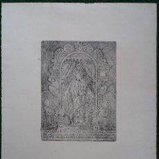 Arte: ANTIGUO GRABADO VERDADERO RETRATO Nª Sª DEL LLADÓ ( LLEDÓ ) - FIRMADO LESOING - PRINCIPIOS S.XX. Lote 118017035