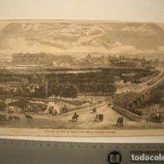 Arte: GRABADO A LA MADERA DEL PALACIO REAL, MADRID. Lote 118053411