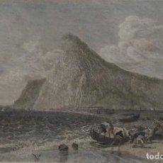 Arte: GIBRALTAR, GRABADO POR BIBL. INSTITUT HILDBURGHAUSEN, 1840, GIBRALTAR. Lote 118336595