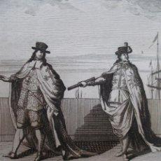 Arte: AÑO 1707. CABALLEROS DE PORTUGAL. ÓRDENES SIGLO XVI-XVIII. ORIGINAL GRABADO AL COBRE. . Lote 118389371