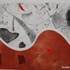Arte: JOSEP GUINOVART (BARCELONA 1927-2007)GRABADO DE 38X59 EN PAPEL 50X70. AÑO 1986. 71/100.. Lote 118661095