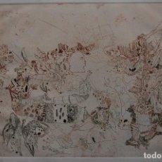 Arte: JORGE CASTILLO (PONTEVEDRA 1933) GRABADO DE 39 X50 PAPEL 57X71. AÑO 1981, 27/60. NUNCA ENMARCADO. Lote 118663815