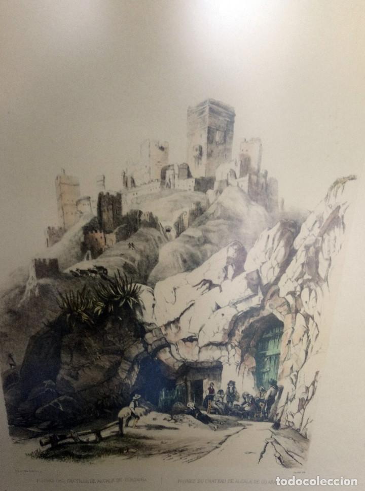 Arte: Alcalá de Guadaira. Reproducción de antigua lámina francesa coloreada, Ruinas del Antiguo Castillo - Foto 2 - 144699570