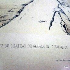 Arte: ALCALÁ DE GUADAIRA. REPRODUCCIÓN DE ANTIGUA LÁMINA FRANCESA COLOREADA, RUINAS DEL ANTIGUO CASTILLO. Lote 144699570