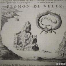 Arte: VISTAS DE LAS CIUDADES DE LA GOLETA (TÚNEZ) Y EL PEÑÓN DE VELEZ (ESPAÑA), CIRCA 1690. CORONELLI. Lote 118898535