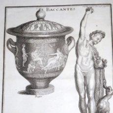 Arte: BACCANTES. B.DE MONTFAUCON. 1719. Lote 118926279