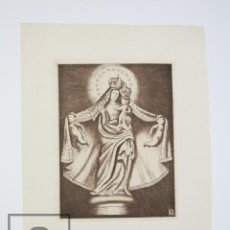 Arte: GRABADO ORIGINAL DE ISMAEL BALANYÀ MOIX - VIRGEN CON EL NIÑO - TIRADA DE 2000 EJEMPLARES. Lote 119009307