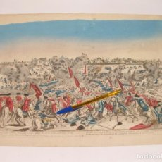 Arte: GRABADO DE LA BATALLA ENTRE ESPAÑA Y PORTUGAL EN SALVATIERRA EN 1762. Lote 119022839
