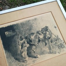 Arte: PRECIOSO GRABADO ORIGINAL RICARDO ARENYS GALDÓN (1914-1977)- ROCAS MUSGOSAS, FIRMADO AUTOR. 66X56CM.. Lote 119050955