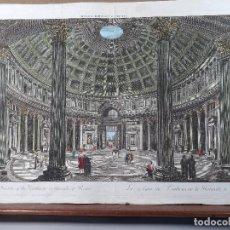 Arte: PANTEÓN DE ROMA. VISTA ÓPTICA. S.XVIII. Lote 119122579