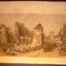 Arte: ANTIGUO GRABADO: - RETOUR DES CENDRES DE NAPOLÉON - (PARIS, SIGLO XIX). Lote 119272091