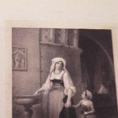 Arte: MADRE CON NIÑA EN EL TEMPLO / S. XIX . Lote 119392979