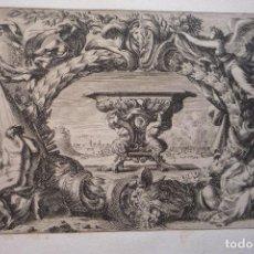 Arte: GRABADO AL COBRE. PIEZA DE MUSEO. DIBUJADO Y GRABADO POR JEAN LE PAUTRE. ORIGINAL DE ÉPOCA.. Lote 119479283